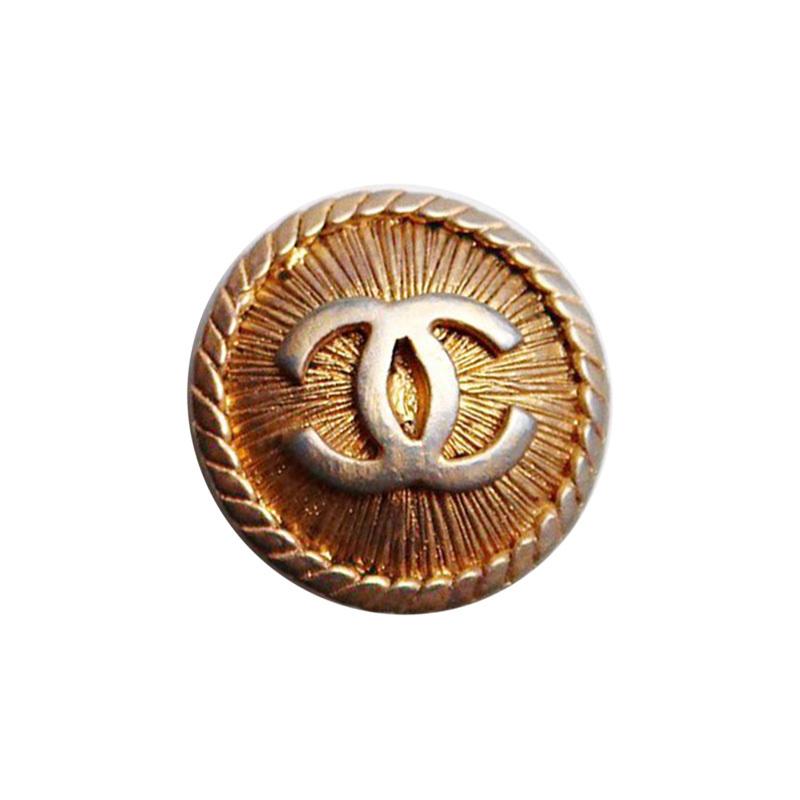 【VINTAGE CHANEL BUTTON】アンティーク ココマーク ゴールド ボタン 1.6cm