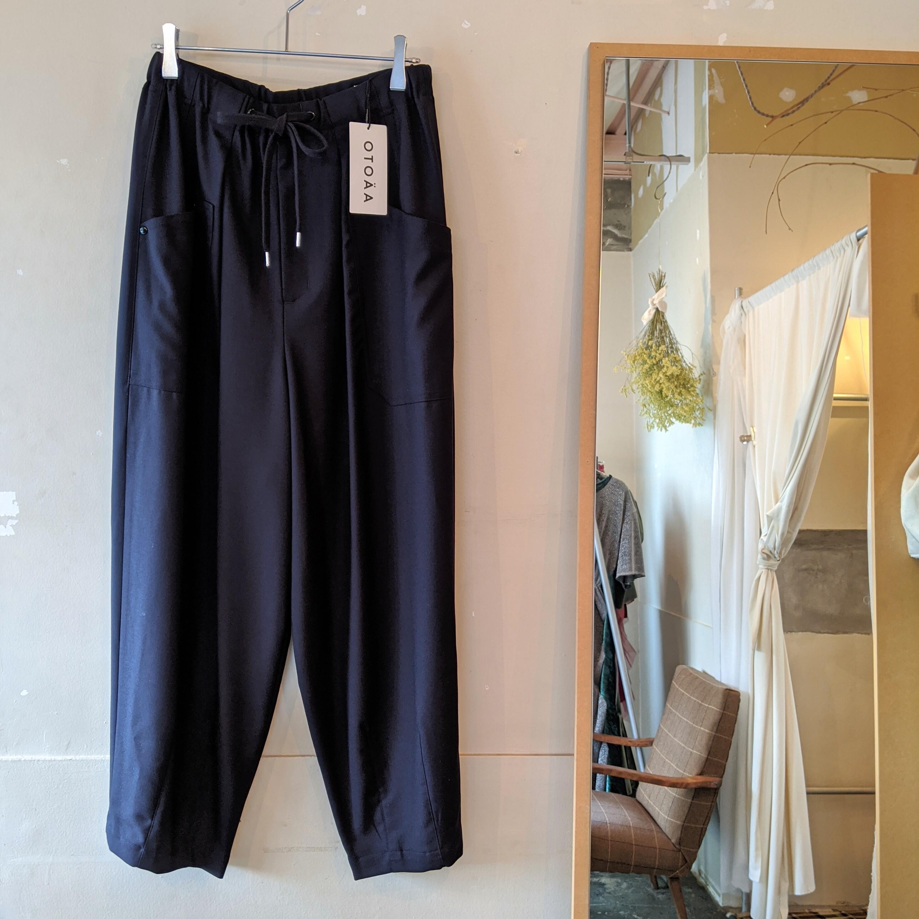 【 OTOÄA 】オトア SAXONY WIDE BALLOON PANTS/ ワイドバルーンパンツ SIZE2