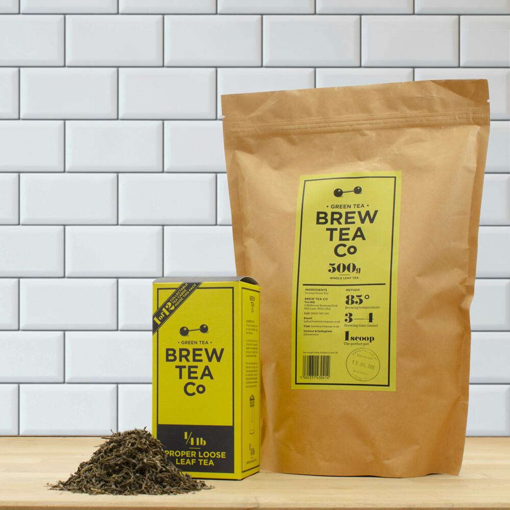BREW TEA Co. ブリューティーカンパニー leaf tea 茶葉 500g Green Tea グリーンティー