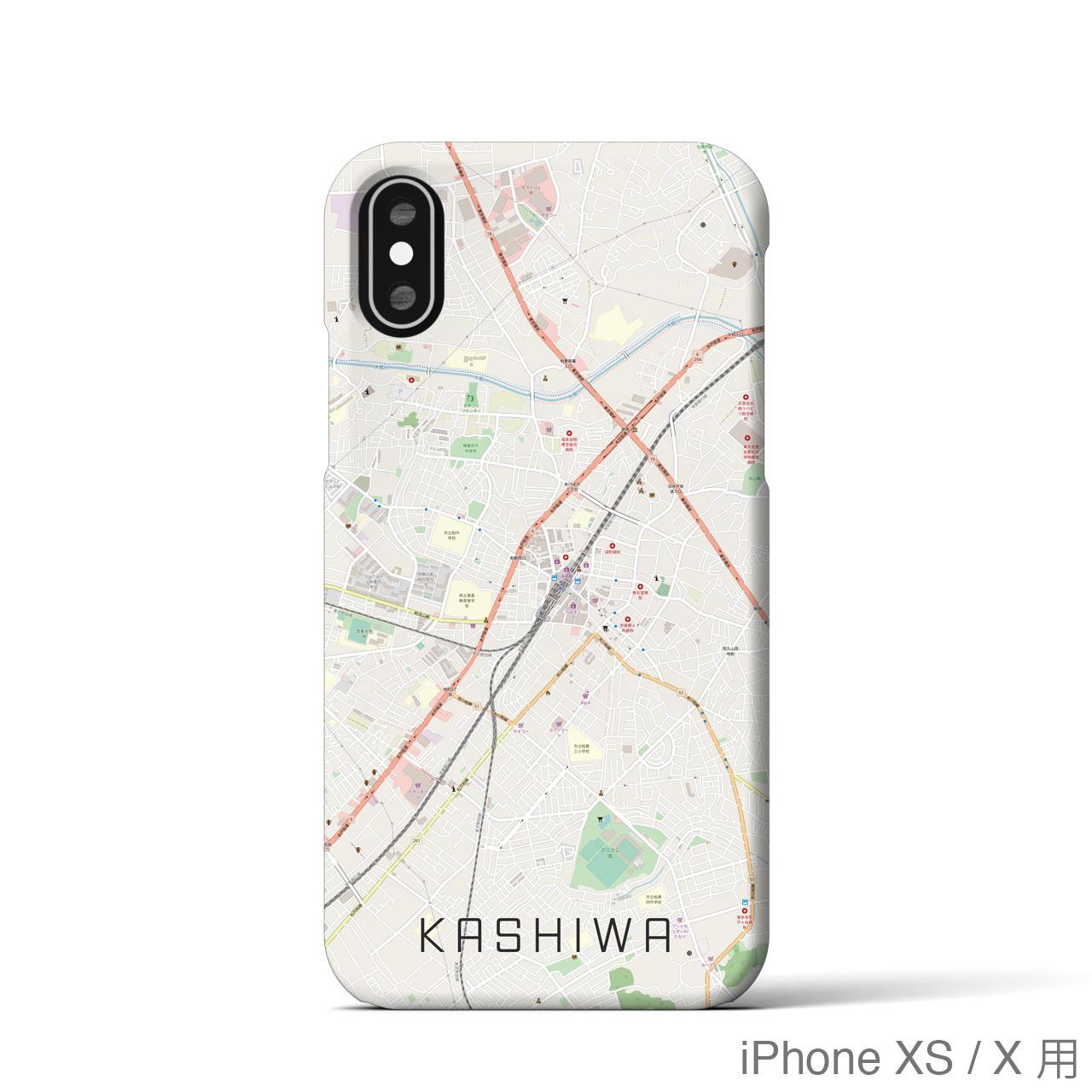 【柏】地図柄iPhoneケース(バックカバータイプ・ナチュラル)