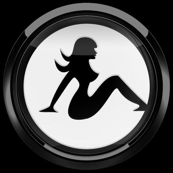 ゴーバッジ(3D)(LC0137 - 3D GIRL WHITE) - 画像2