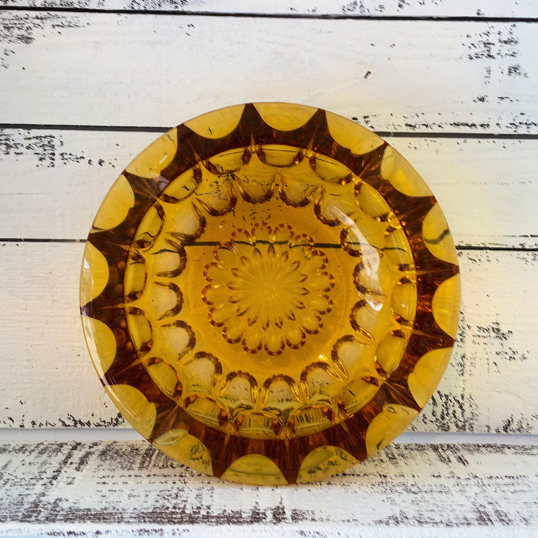 ANTIQUE ASHTRAY・BRAWN(GLASS)/アンティークガラス灰皿・茶(現品限り)