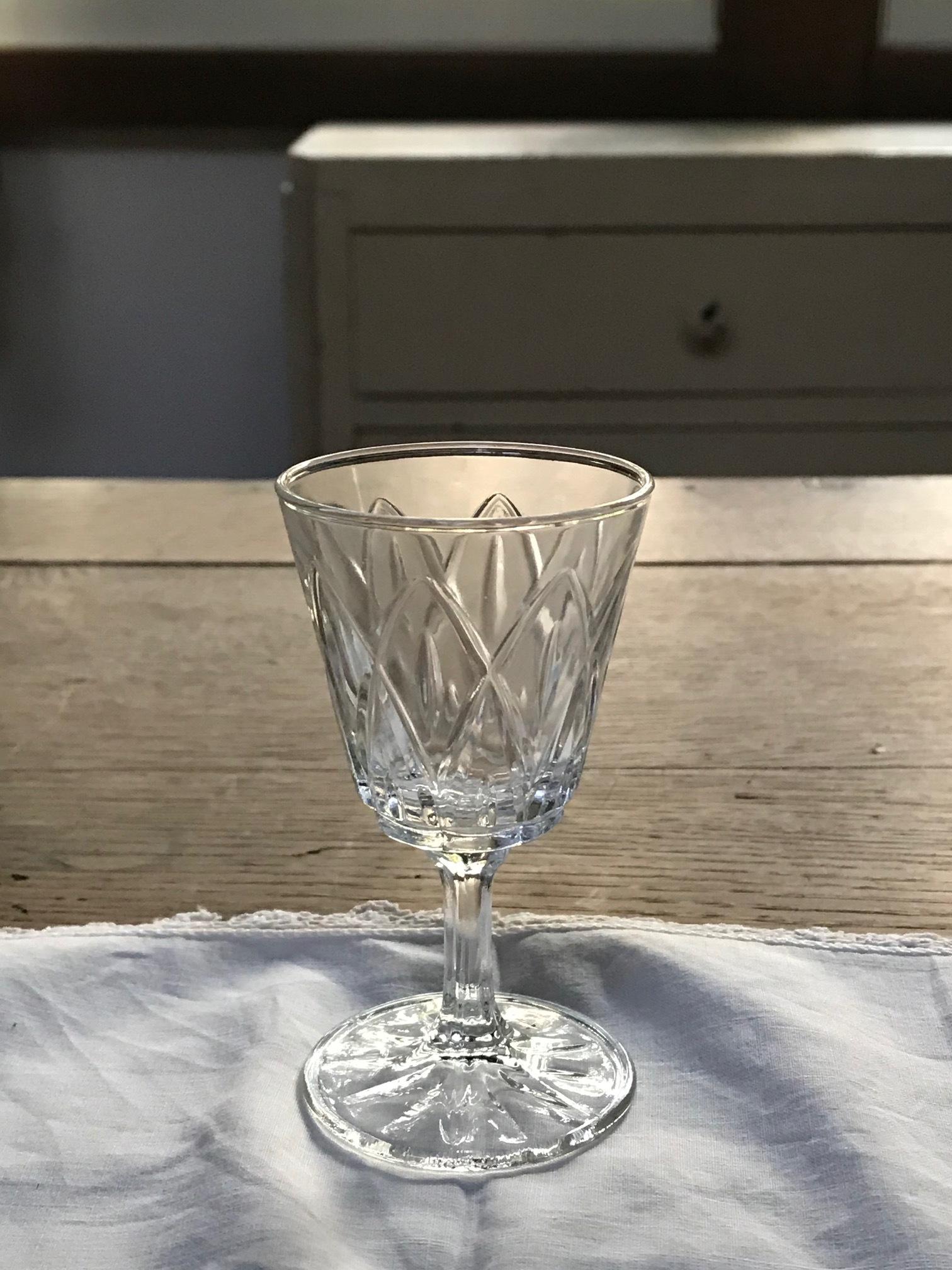 1940年代 フランスアンティーク 切子グラス E