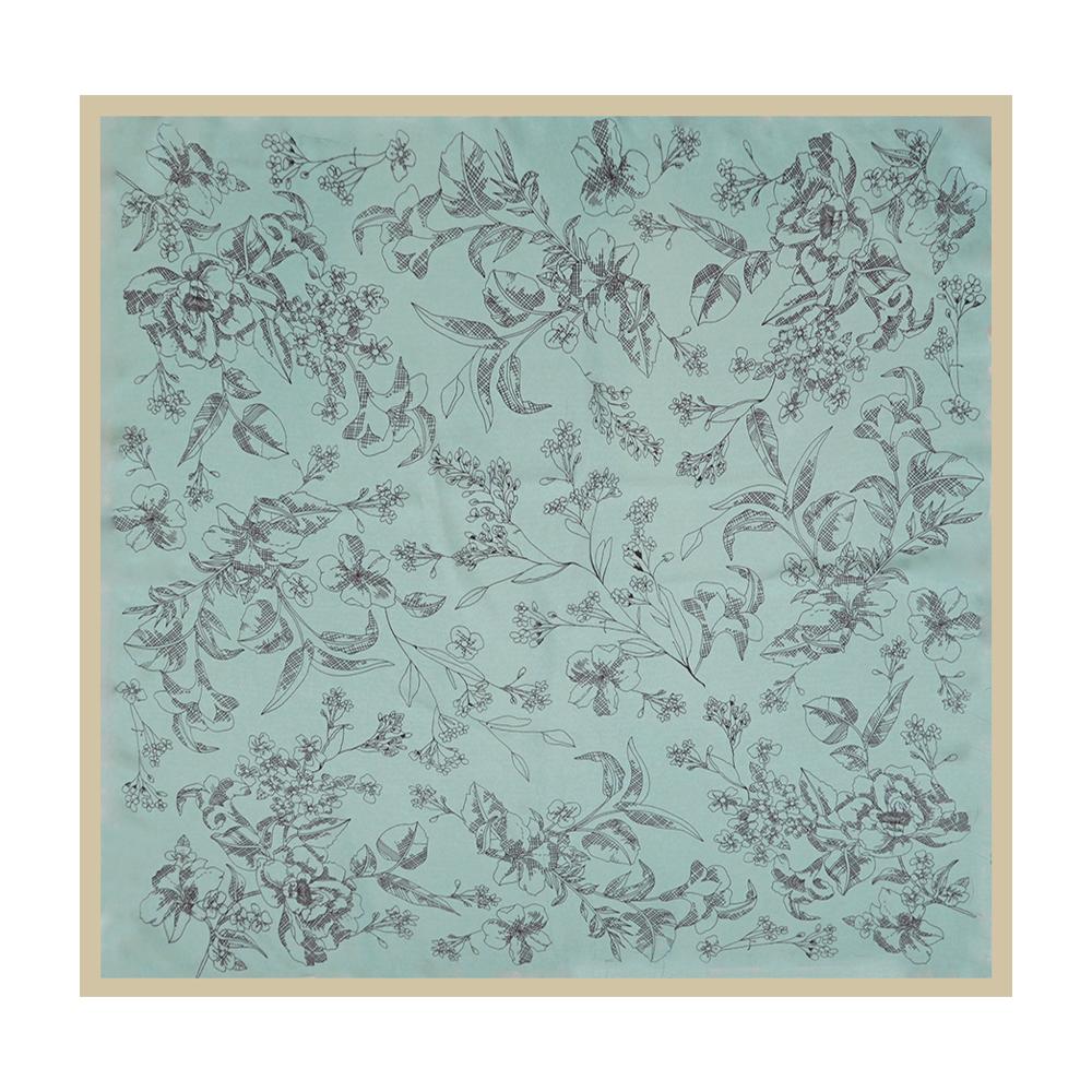 SCARF - SKETCH FLOWER - LIGHT BLUE