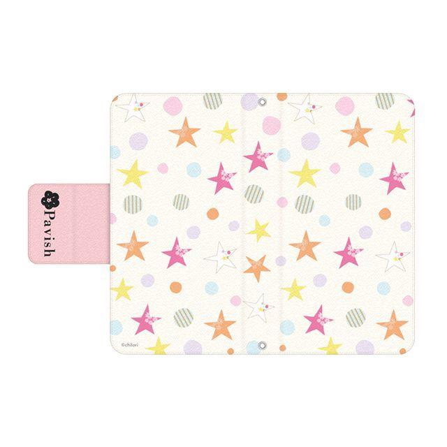 手帳型スマホケース【Relaxing Stars ピンク】iPhone&Android
