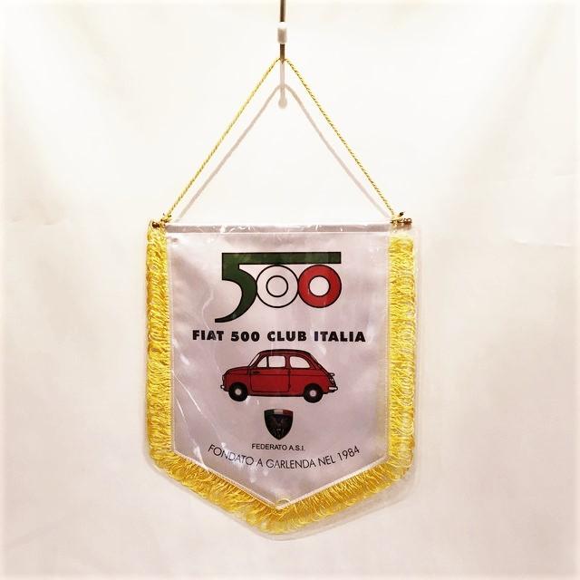 FIAT 500 CLUB ITALIA 1984 Pennant Flag 【送料無料】 【税込価格】