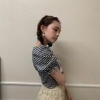【KissMeLove】square neck frill blouse
