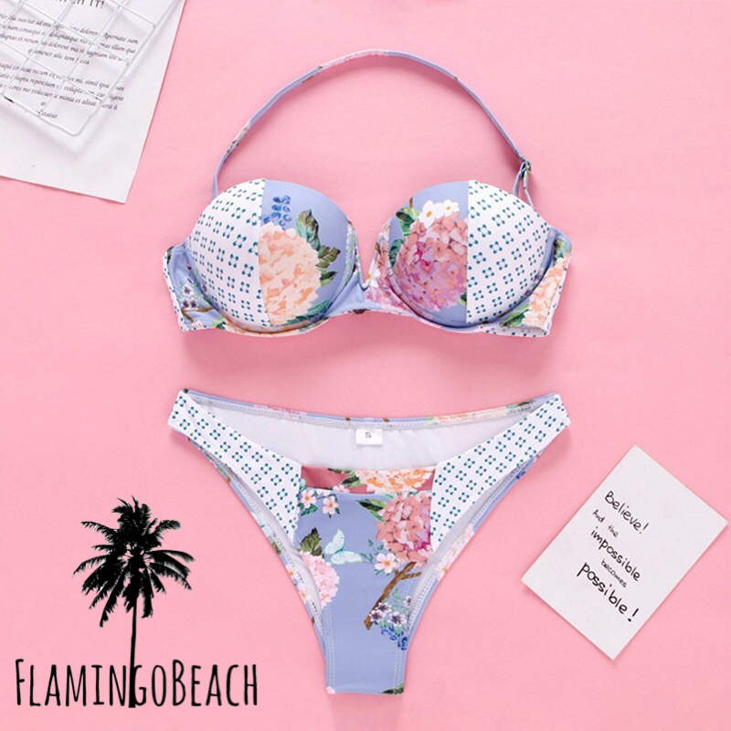 【FlamingoBeach】pattern cup bikini ビキニ