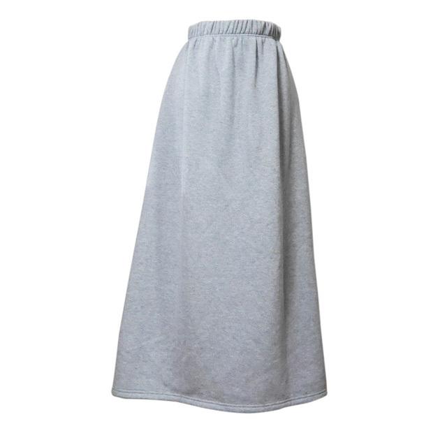 裏起毛ロングワイドマキシスカート