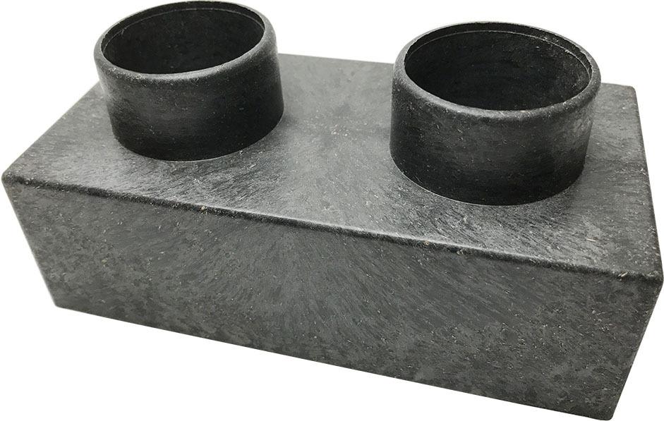 レンブロック穴あき ブラック
