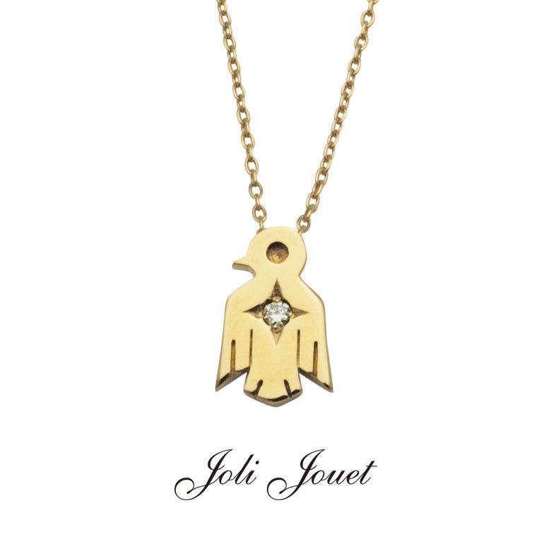 JoliJouet ThunderBard Necklace サンダーバード一粒ダイヤネックレス