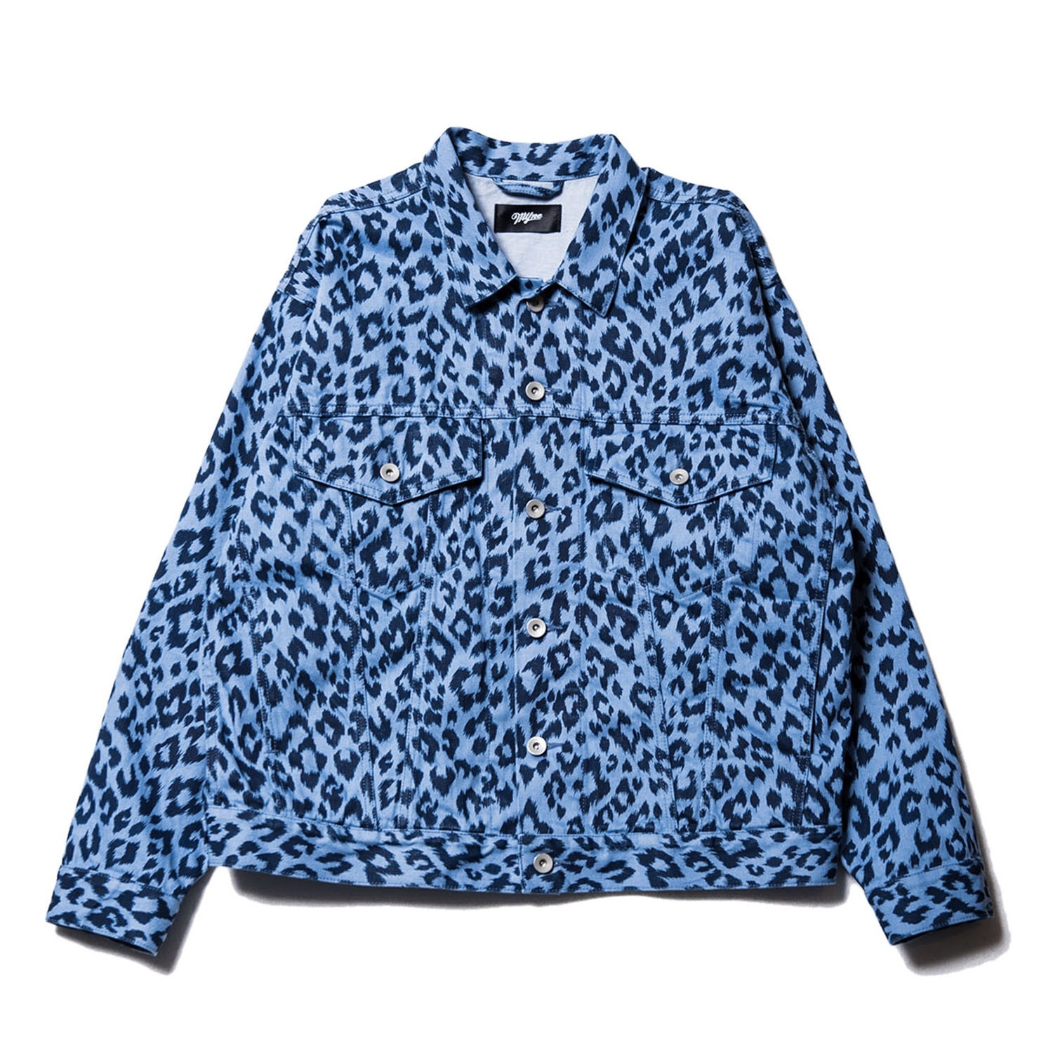Leopard denim jacket / INDIGO - 画像1