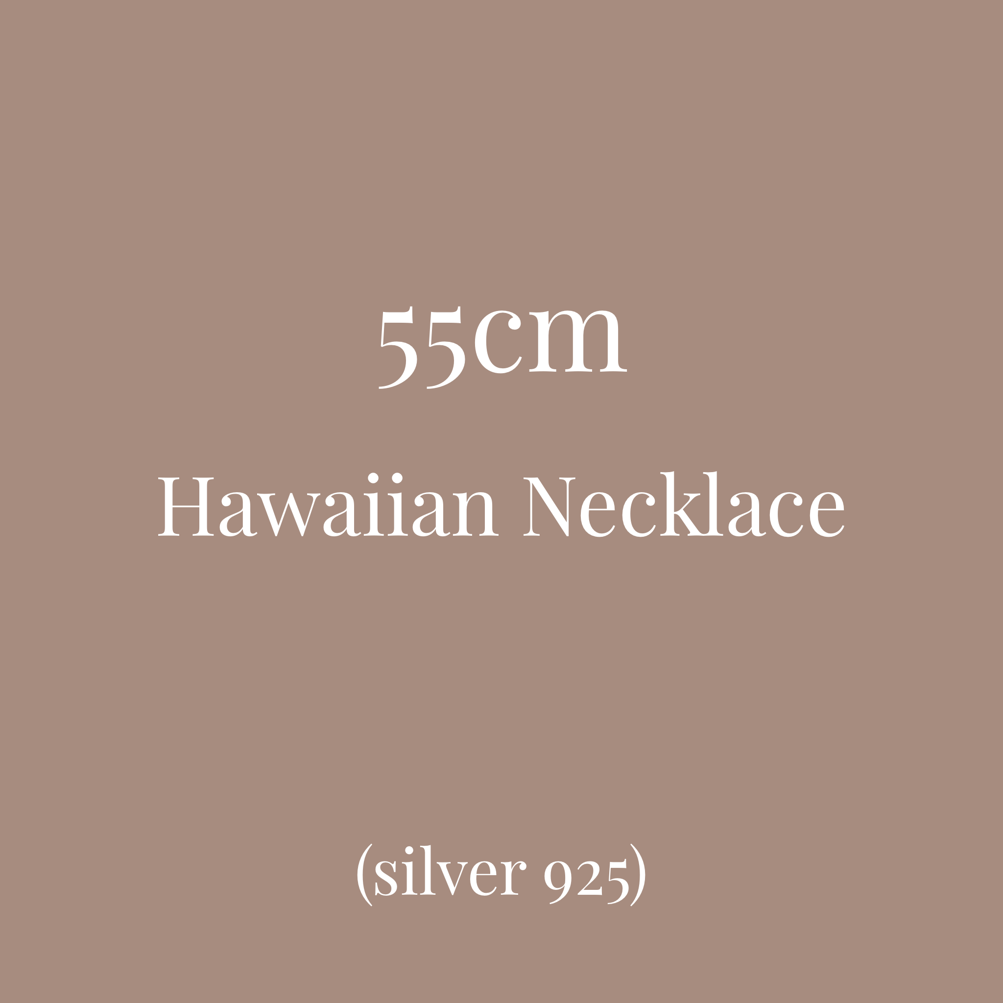 Hawaiian pendant chain 55cm変更