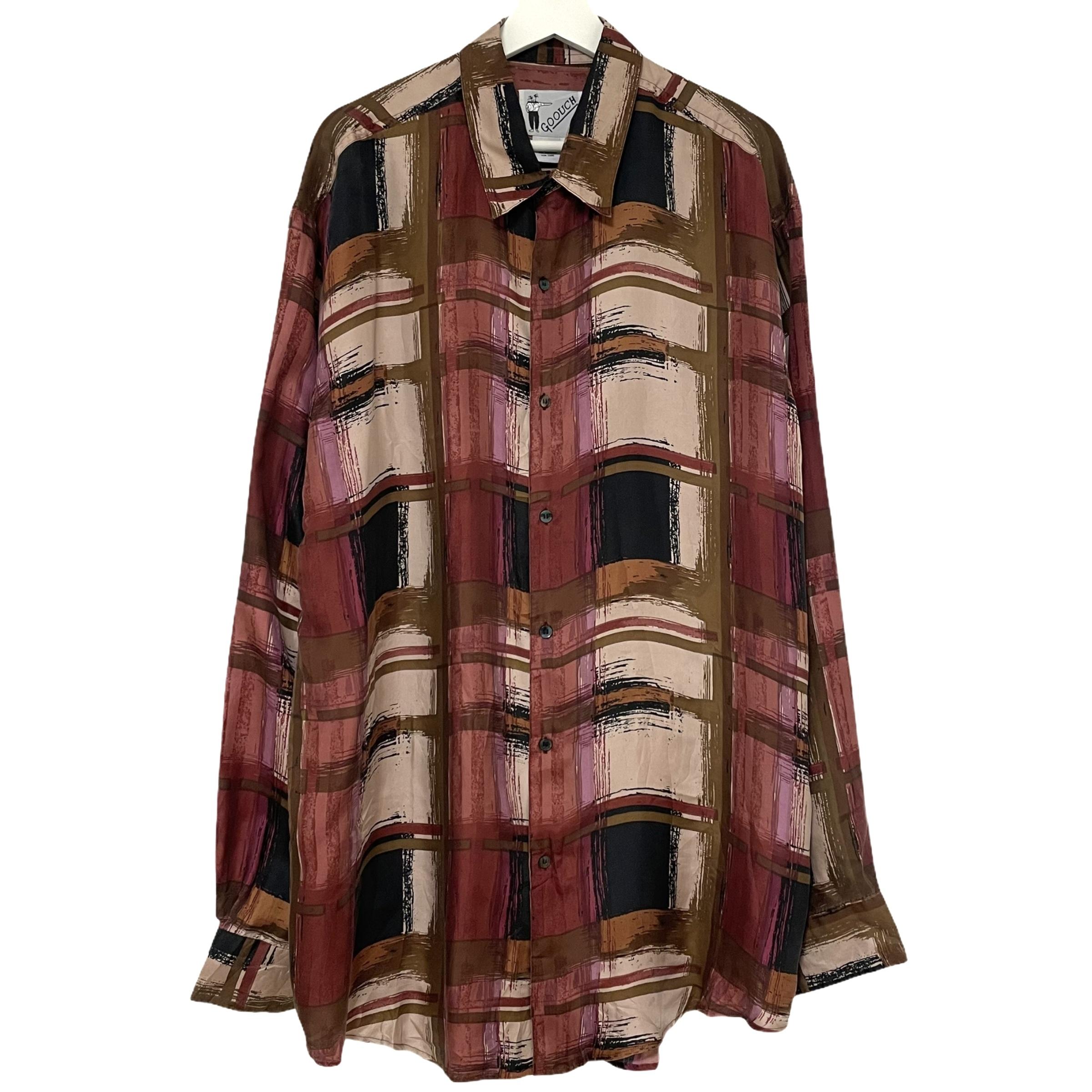 Dead Stock 90's GOOUCH Silk Shirt 【 PINK 】