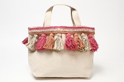 リラキャンベル canvas tassel bag(ピンク)