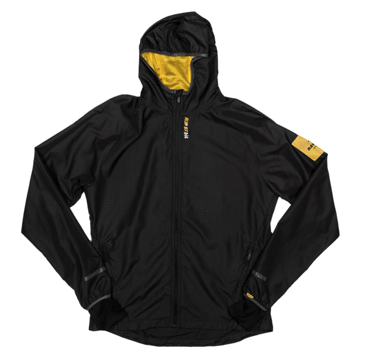 【NEW!】SAYSKY セイスカイ ランニングジャケット Run Or Die Pace Jacket - BLACK [ユニセックス] FMRJA03