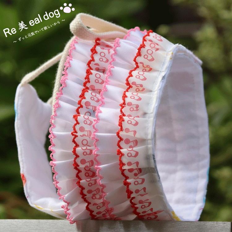 サニタリーショーツ / 赤音符(赤,ピンク)