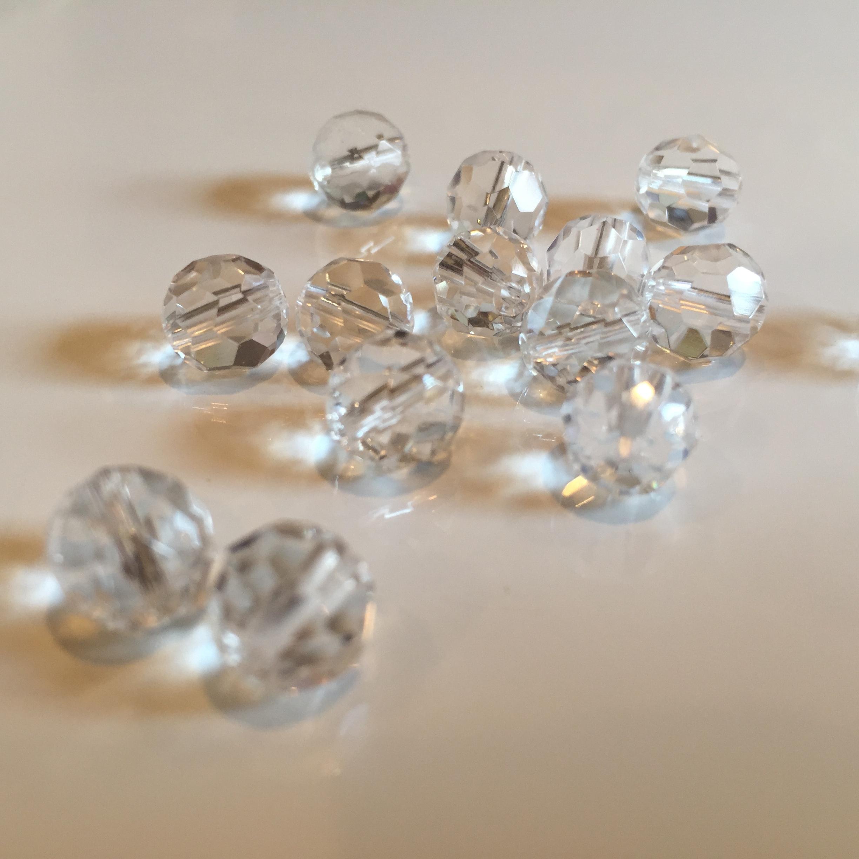 浄化の石|水晶 8mm 32面バッキーボールカット玉