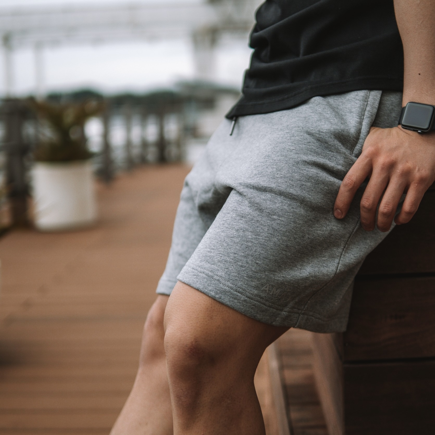 """FLEX"" Wide Shorts (Gray)"