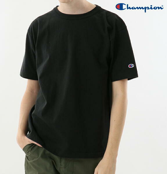 チャンピオン Tシャツ クルーネック T1011 半袖 アメリカ製 メンズ CHAMPION 正規販売店 C5-P301 ブラック