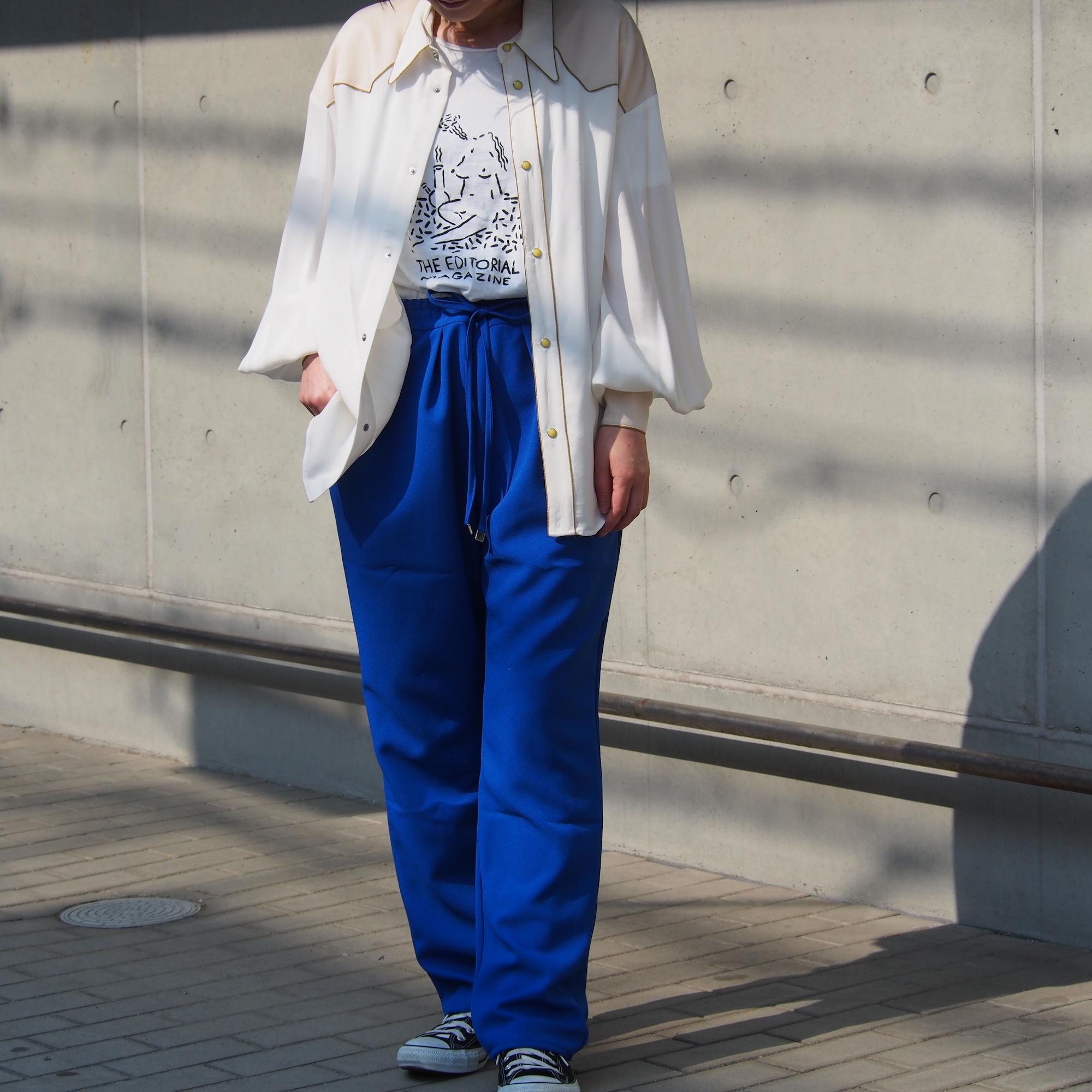 【ethical hippi】tapered pants(sky blue) / 【エシカル ヒッピ】テーパード パンツ(スカイ ブルー)
