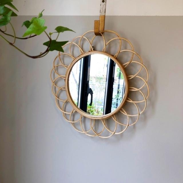 Bamboo Mirror バンブー壁掛けミラー φ31cm