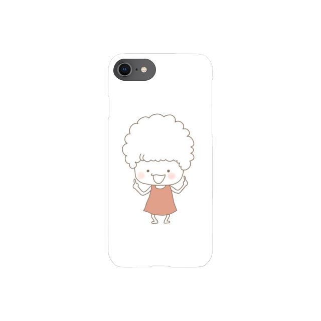 きのこさん、アフロだよ (iPhone case)