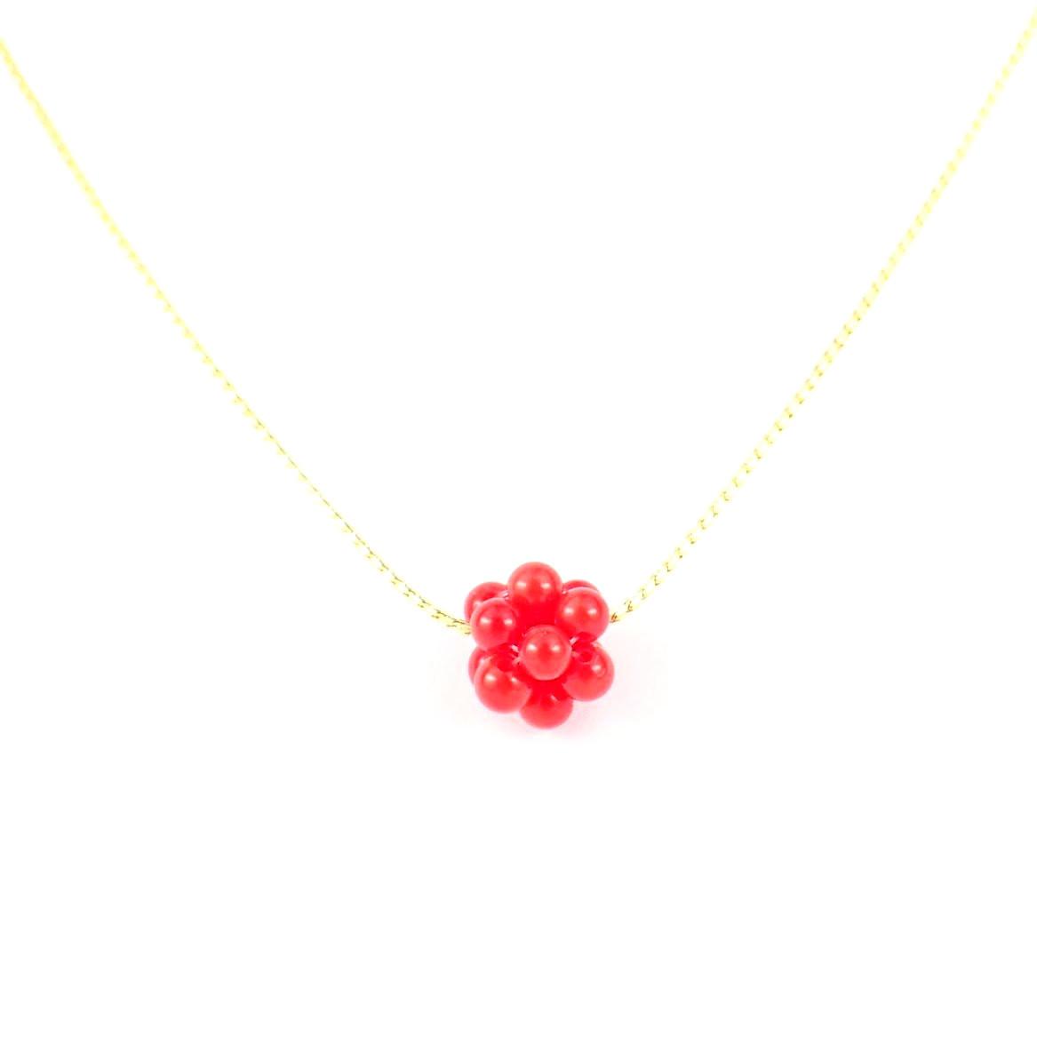 赤 珊瑚 ネックレス