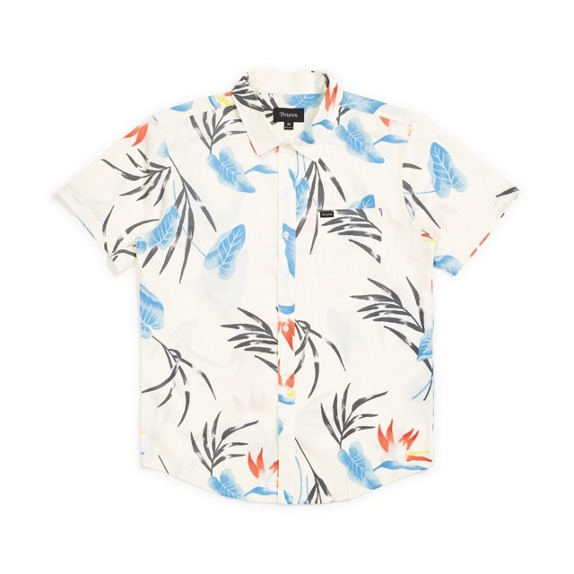 BRIXTON #Charter Print S/S Woven - OFF-WHITE-BLUE