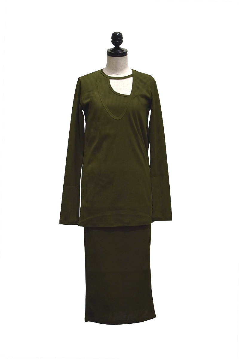 NAIFE™ / Crazy layered dress / GREEN