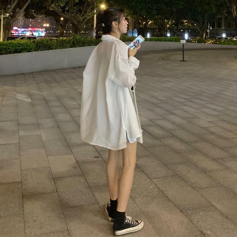 【送料無料】 ゆるシルエット♡ オーバーサイズ シャツ カジュアル トップス 羽織り ビッグシルエット