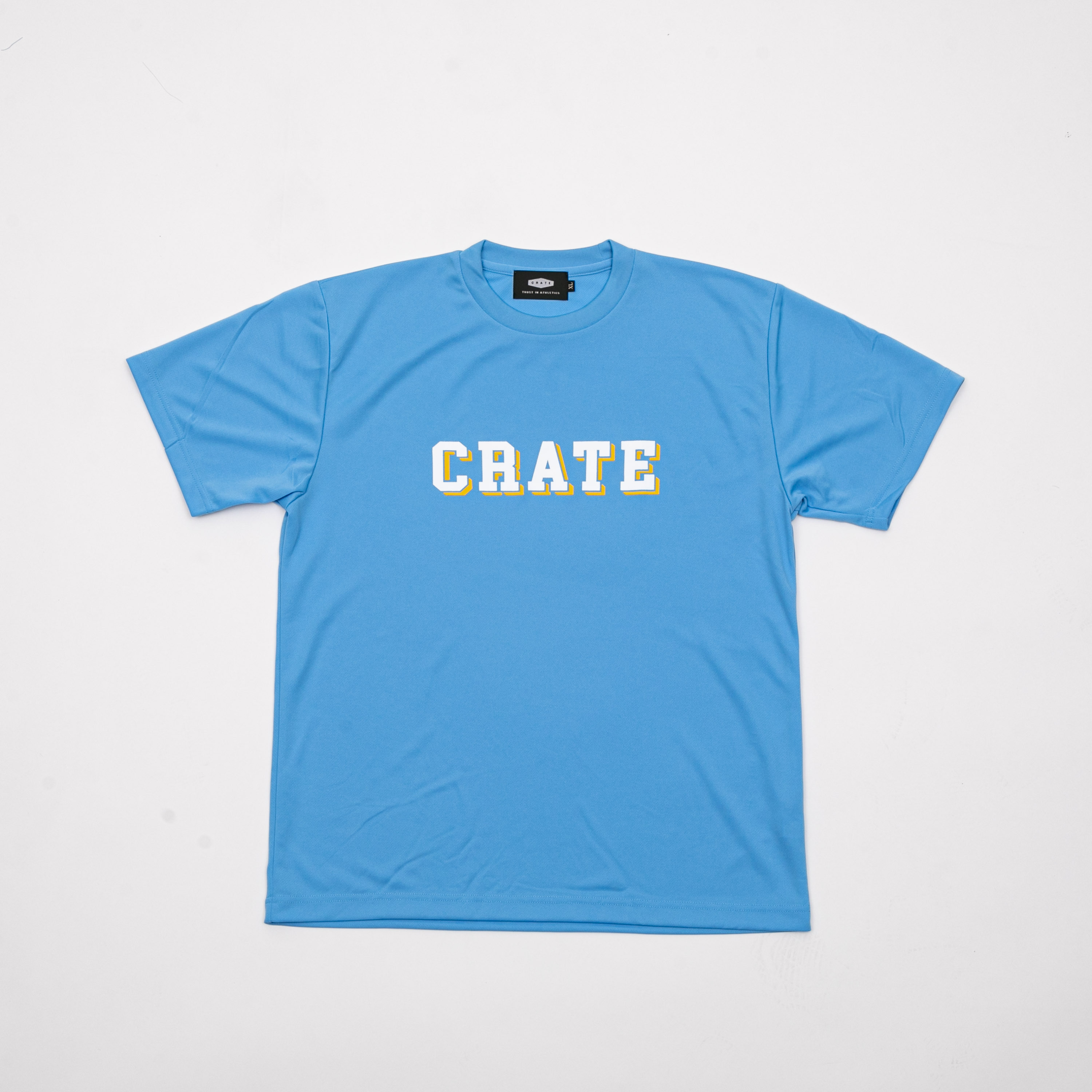BLOCK LOGO MESH T-SHIRTS BLUE