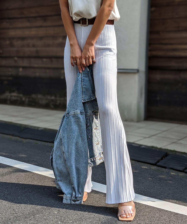 Pleats soft pants
