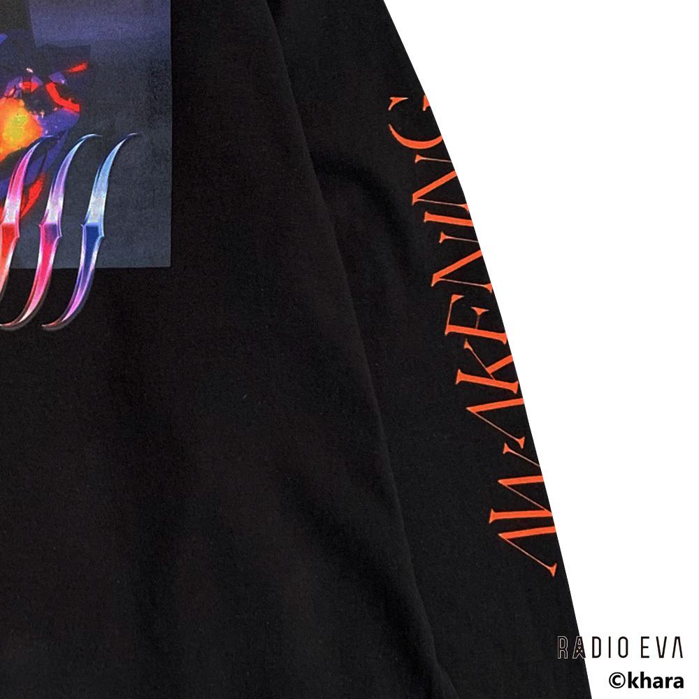 Unit-01 AWAKENING L/S Tee ( BLACK  )   /  RADIO EVA