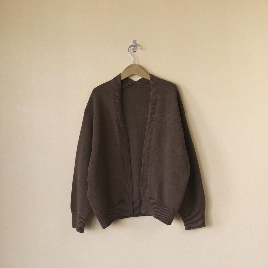 atelier naruse アトリエナルセ cotton low gauge cocoon knit コットンローゲージコクーンニット・ブラウン