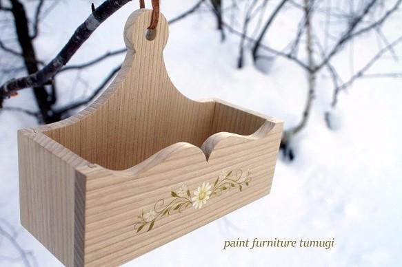 ペイントウォールボックス#1、手描きのトールペイント、農民家具スタイル[在庫あり]