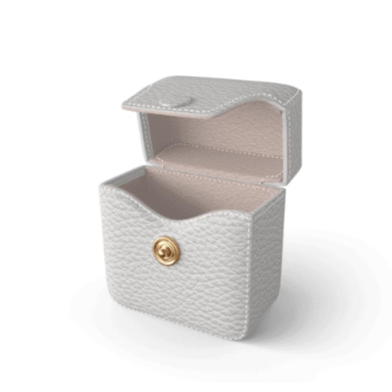 Air Pods Case Premer Shrink Leather (Milk White)