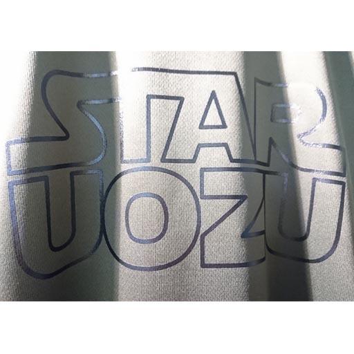 "STAR UOZU ""ドライ"" Tシャツ アーミーグリーン×ブラック"