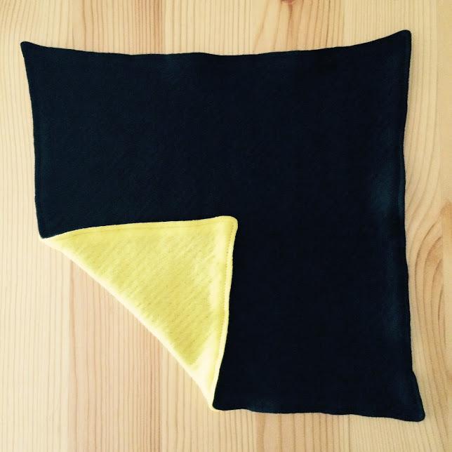 ハンカチ [H-05] 黒×黄