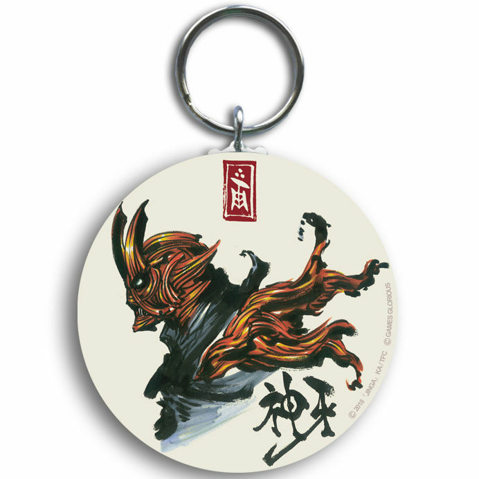 【 神ノ牙 -JINGA- 】JINGA Steel Keyring / GAMES GLORIOUS