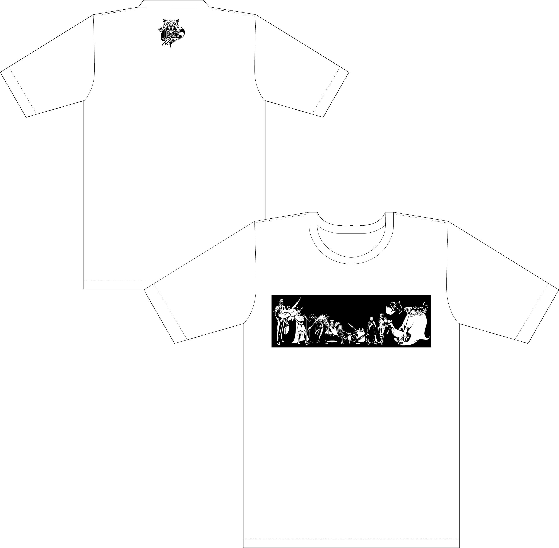 Crazy RaccoonオリジナルTシャツ 白