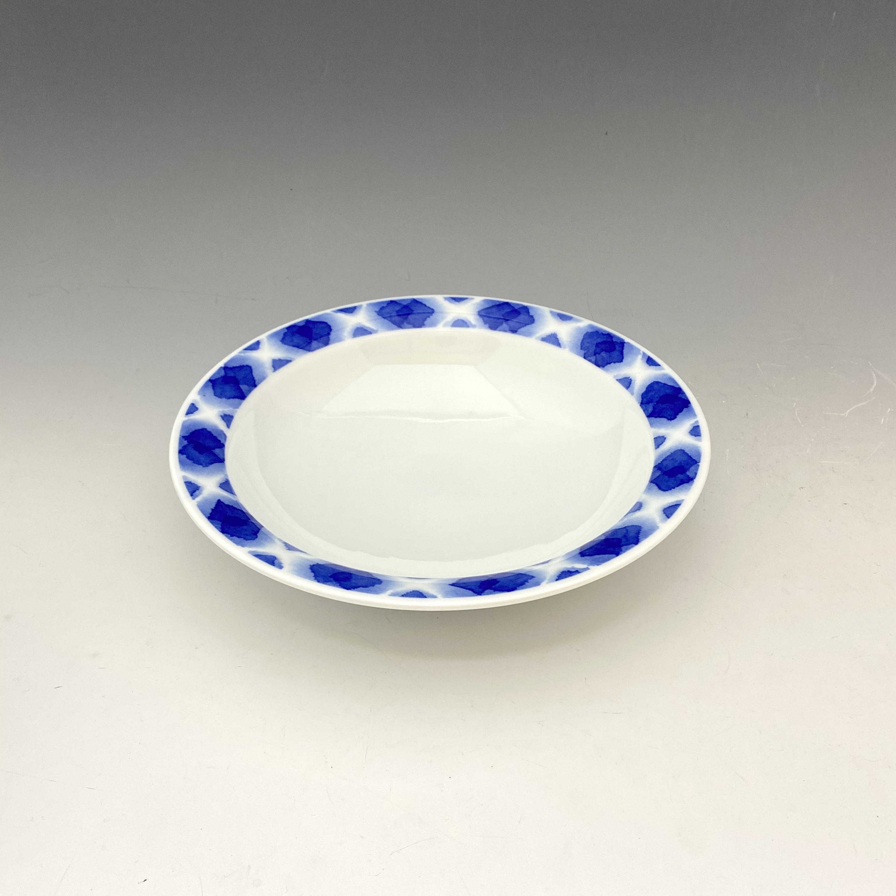 【中尾英純】和紙染ぼかし文カレー皿