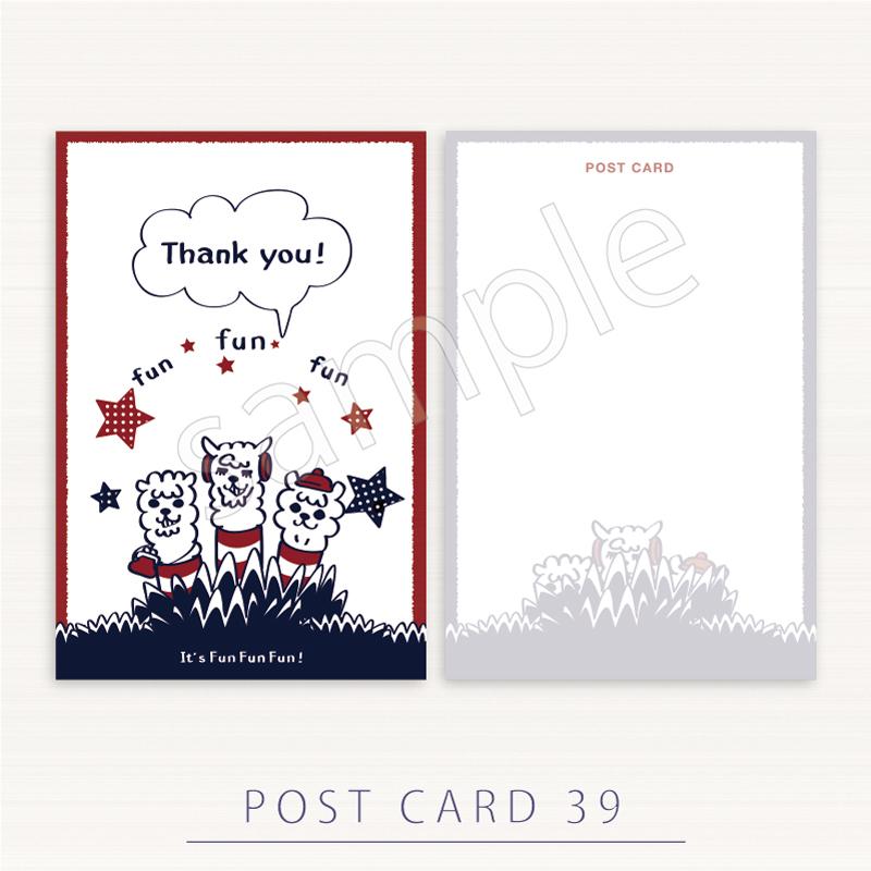 ポストカード*あるぱかイズムのThank you!*1PCot39