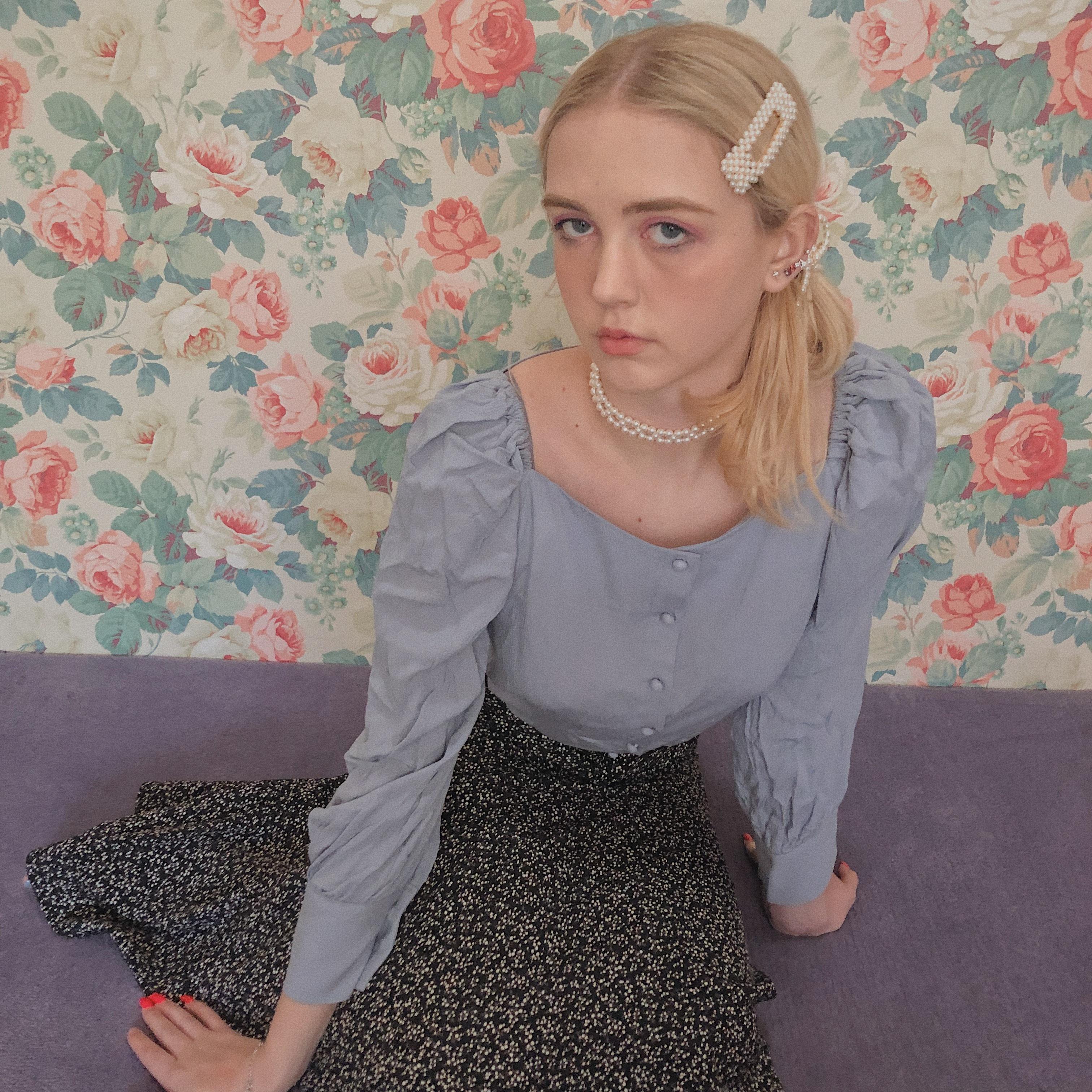 french girl flower  skirt