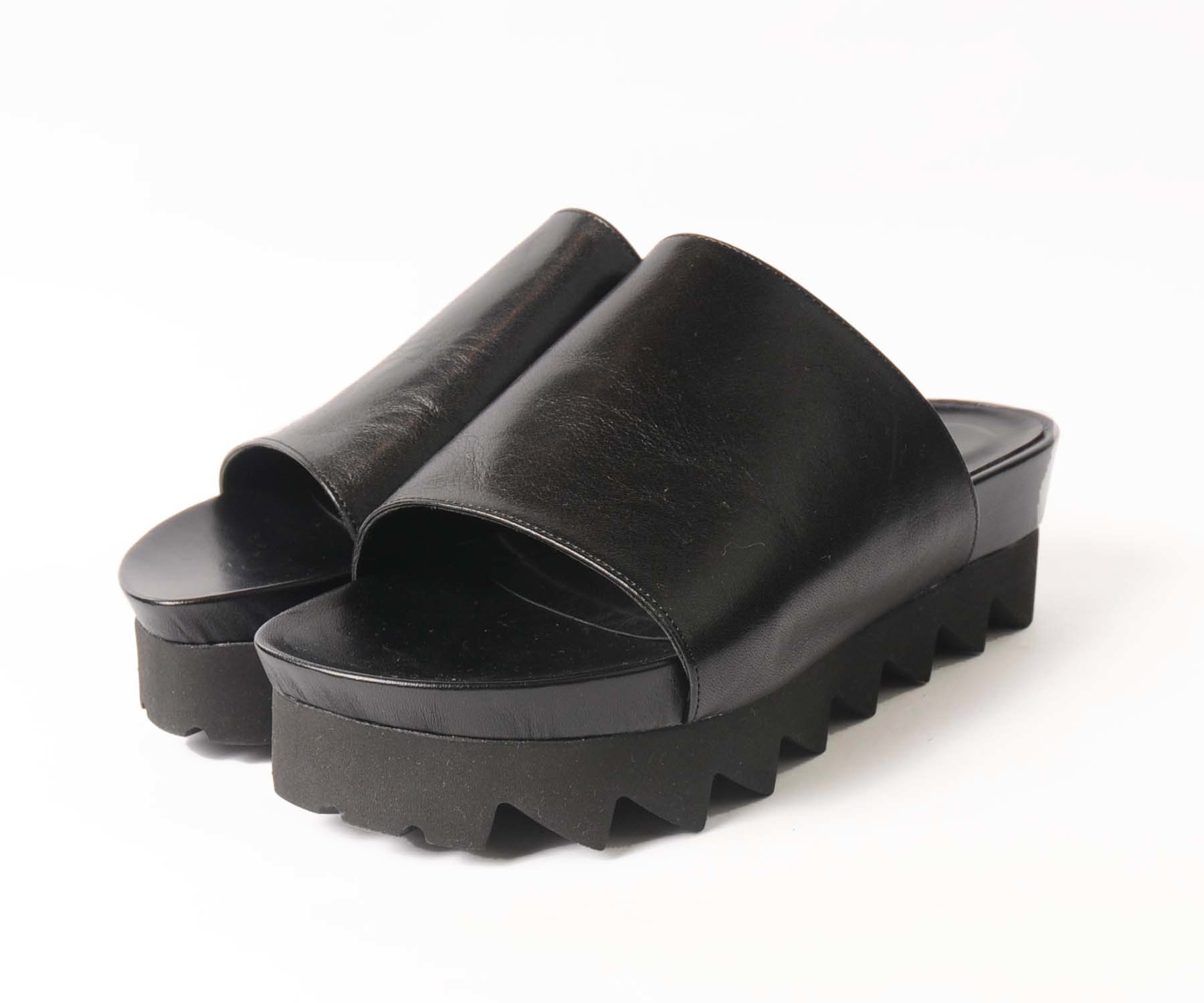 hs18SS-IRS03 LEATHER 2SOLE SANDAL B