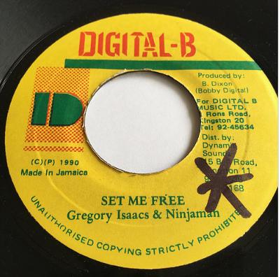 Gregory Isaacs(グレゴリーアイザックス) & NInjaman(ニンジャマン) - Set Me Free【7'】