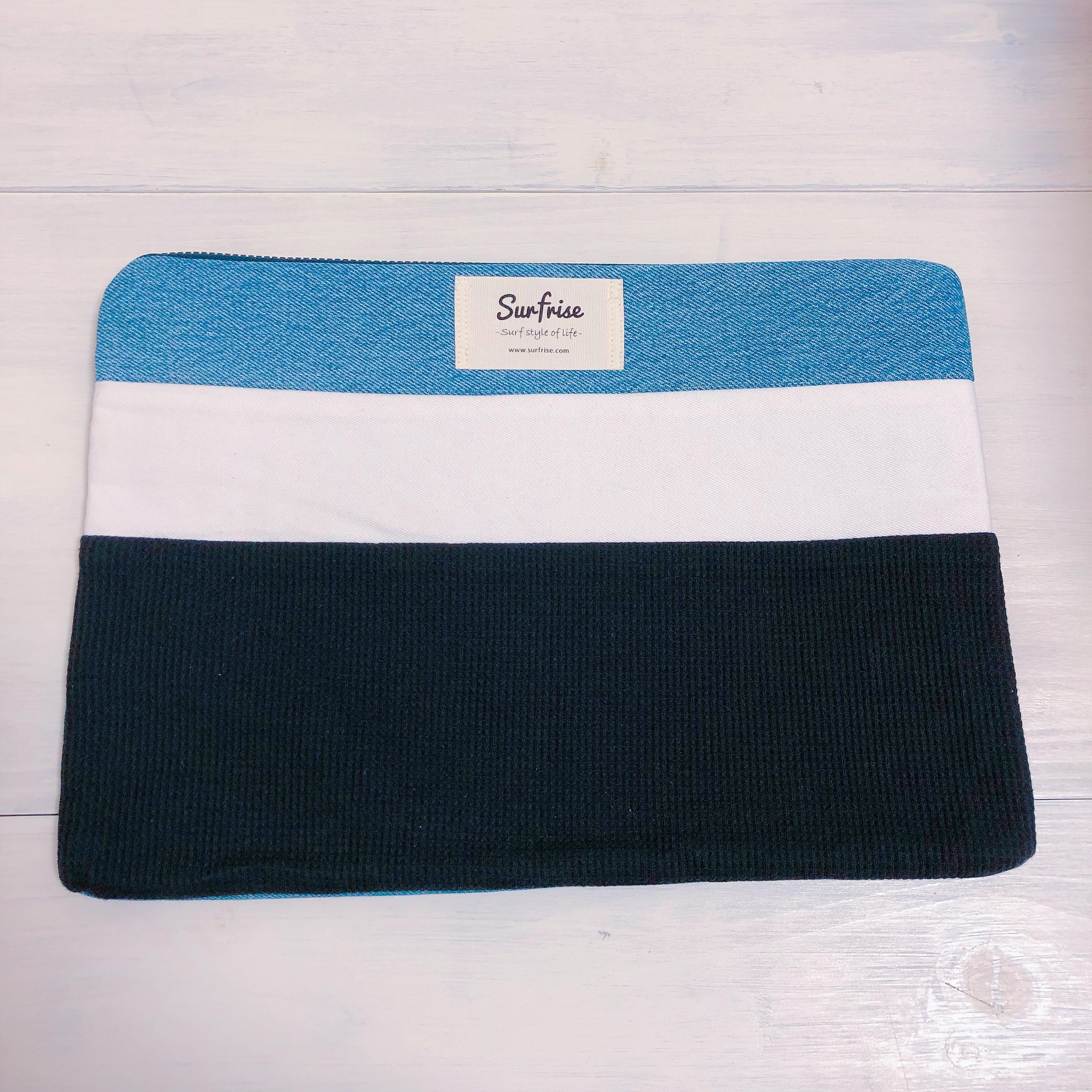 Denim clutch bag R45(Black)