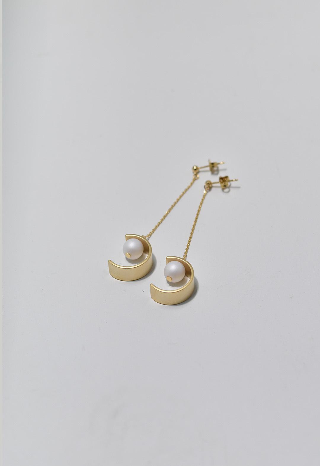 C-frame pierce Gold/White
