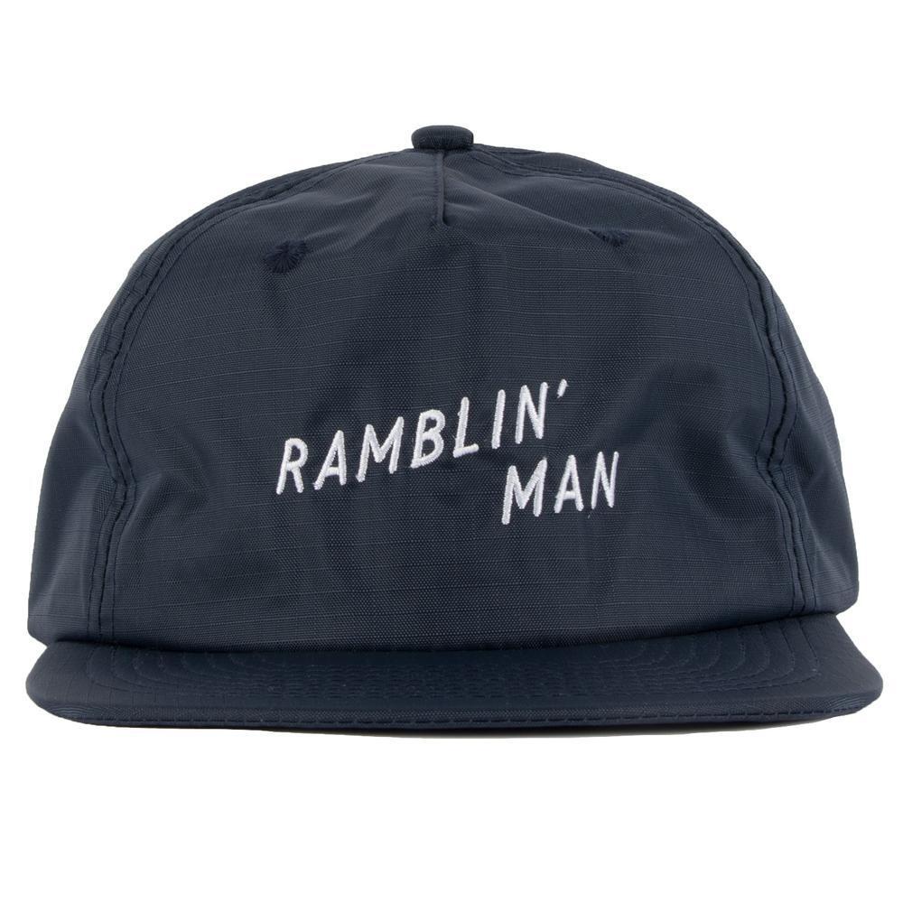SEAGER #Ranblin'Man Rip Stop Nylon Snapback Navy