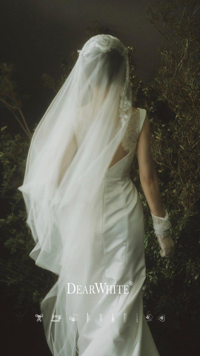 dw_b_24【DearWhite】オーダーメイド ウェディングドレス Aライン プリンセス エンパイア デコルテ 結婚式 披露宴 二次会 パーティーウェディングドレス・カラードレス・サイズオーダー格安オーダーメイド